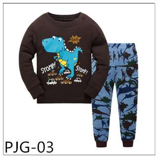 Dino Boy Long sleeve Pajamas