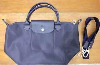 Longchamp Le Pliage Neo Small short handle - BILBERRY / DARK PURPLE