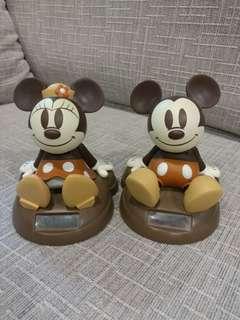 Solar powered Mickey & Minnie