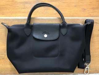 Longchamp Le Pliage Neo Small short handle - BLACK