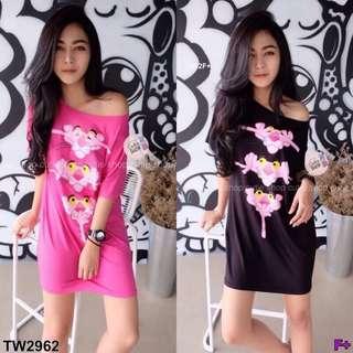 Pink panter mini dress ; shop to