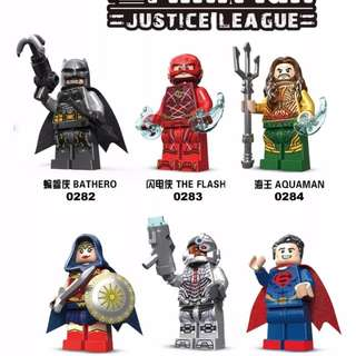 DC Justice League minifigs (6pcs/lot)