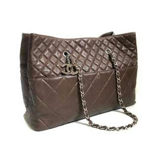 22,8jta CHANEL Reissue Tote Calf Brown SHW #14 • 40 x 27 x 23 CM • Comes with holo & card