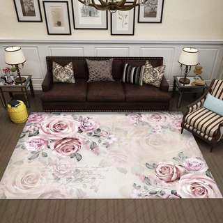 Floral Anti Slip Large Carpet