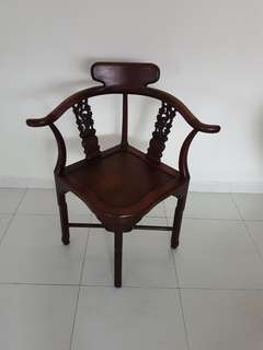 Rosewood corner arm chair