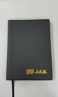 Black PVC Leather Planner @ Diary