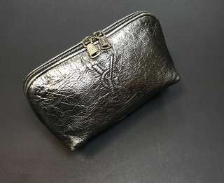 YSL Leather Cosmetic Bag