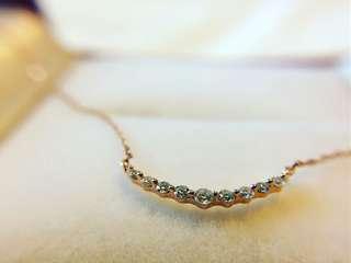 10分微笑玫瑰金鑽石頸鏈
