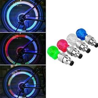 2pcs Lamp Wheel For Car Valve Cap Tyre Light Skull Shape