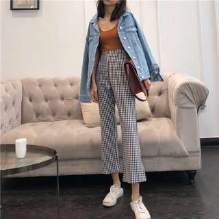 GINGHAM KATE PANTS