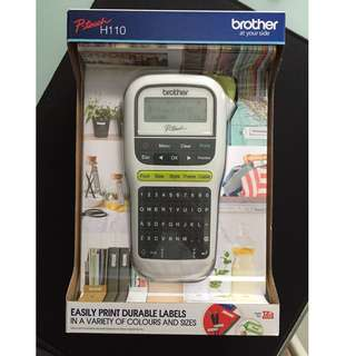 (BNIB) All-new Brother (H110) P-Touch portable handheld label maker for sale!