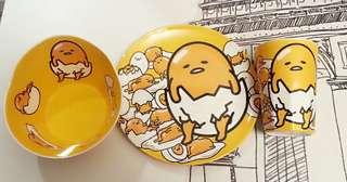 蛋黃哥餐具 碗 碟 杯 耐熱樹脂質地