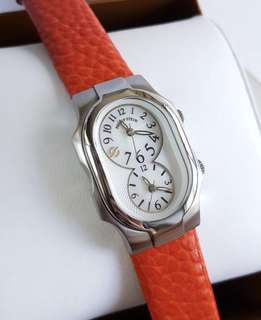 100% Authentic PHILIP STEIN Signature Dual Time Watch Size 1 Small Women's Watch 1-FMOP
