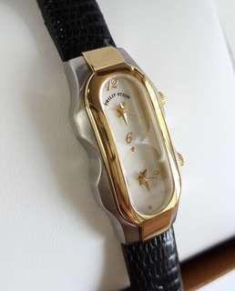 100% Authentic PHILIP STEIN Mini Gold Two Tone Dual Time Women's Watch Signature Collection