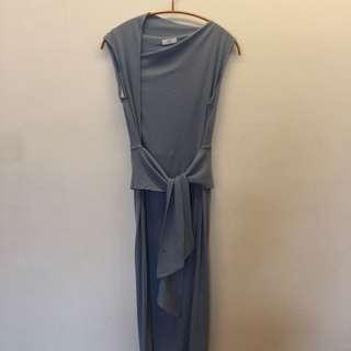 斜肩式洋裝