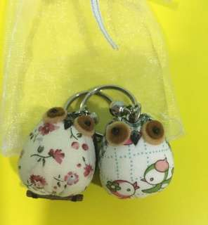 Owl keychain (1 pair)