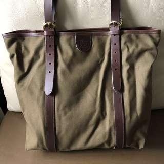 全新 IL Bisonte 軍綠tote bag