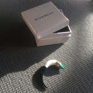 Givenchy Brass Jade Pearl Earring