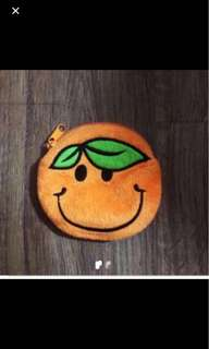 Orange Coin Purse Pouch Wallet