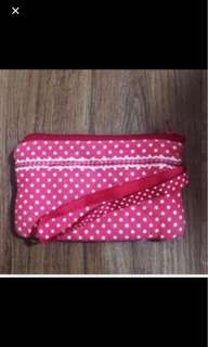 Red and White Polka Dots coin Purse pouch wallet