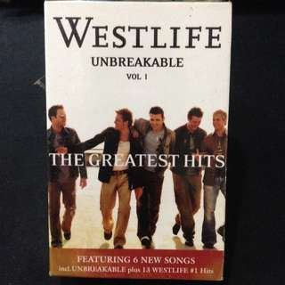 Westlife Unbreakable Greatest Hits Vol 1 Cassette