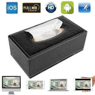 1080P Mini WIFI HD Spy DVR Hidden IP Camera Tissue Box Video Recorders Nanny Cam Motion Detection For Android iOS PC