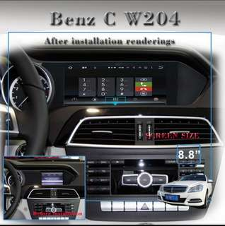 Mercedes C W204  8.8touch screen Android system