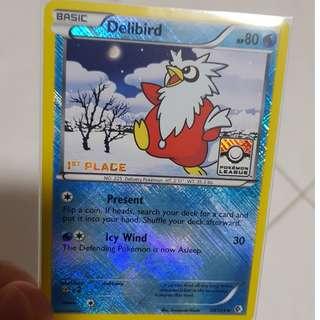 Delibird - 1st Place League Promo Pokemon card