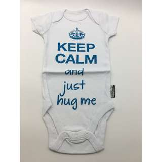 Keep Calm and Just Hug Me Romper Funny Baby Bodysuit