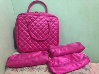 Authentic Makeup Bag w/ 3 pouches