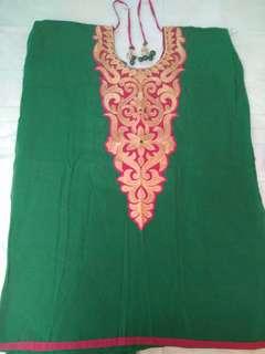 Punjabi suit material (Pink and Green)