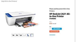 HP Printer 2621 All in One