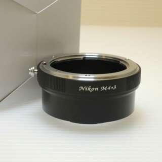 🚚 Nikon轉M4/3系列機身轉接環/非電子接環