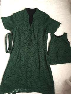 Couple mom and baby dress