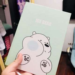 We bear bears note book (ice bear)
