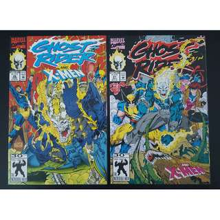 Ghost Rider #26-#27 (1992 2nd Series) Complete Set of 2- Guest-starring The X-Men!