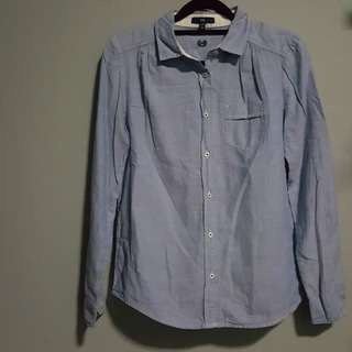 Gap Blouse Top Buttondown Shirt Officewear