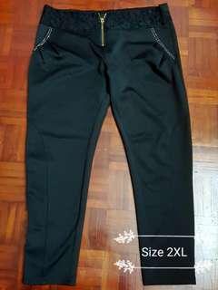 Preloved Plus Size Stretchable Black Pant