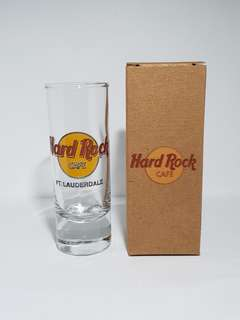 Ft. Lauderdale Hard Rock Cafe Classic Shot Glass, Collectible