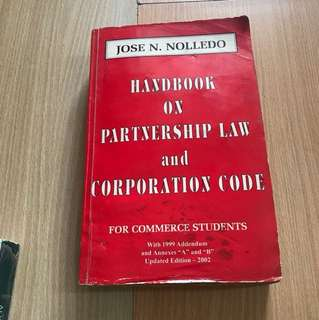 Handbook on Partnership Law and Corporation Code
