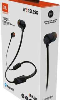 Brand new Authentic JBL wireless Bluetooth earpiece T110BT sealed