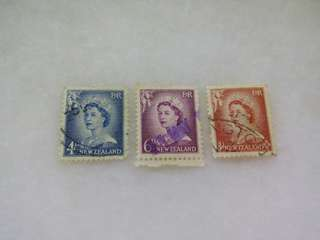 New Zealand Stamps 3V QEII Used