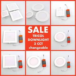 TRICOL SQUARE RECESSED LED DOWNLIGHT WITH 3 COLORS CHANGEABLE