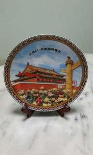 Porcelain plate 瓷彩盘#天安门