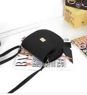 <New Arrival > Black Chemi Sling Bag