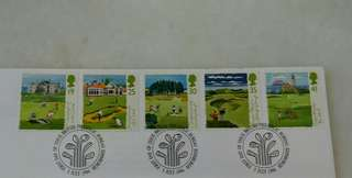 GB UK England Golf Stamps & Special Postage #2