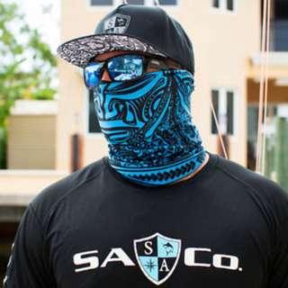 SA Co. Face Shield: Polynesian Blue