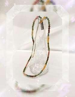 巴西出產 彩色碧璽圓珠 頸鍊/ 手串兩用 一條 (包郵) BSYD- 1
