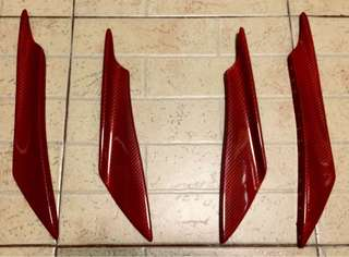 4pcs Red Carbonfiber Finish Canards
