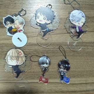 (CLEARANCE) Yuri On Ice Doujin Keychains/Standees